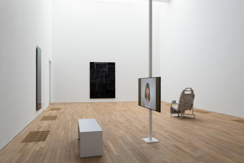 Exhibition view: Ma Qiusha and Anne Imhof, at Performing Society: The Violence of Gender. Courtesy: Ma Qiusha, Beijing Commune & Anne Imhof & Galerie Buchholz, Berlin/Cologne/New York.