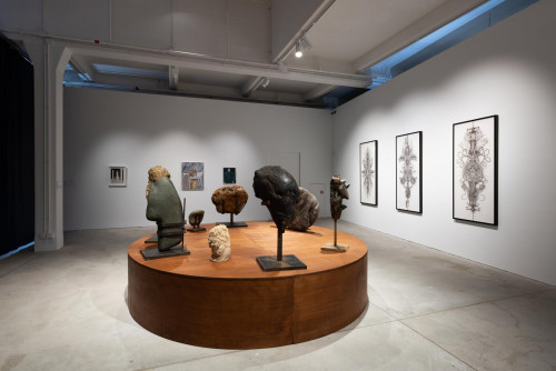 Exhibition view: Wang Shishun, Angela Su and Firenze Lai, at Contagious Cities: Far Away, Too Close.