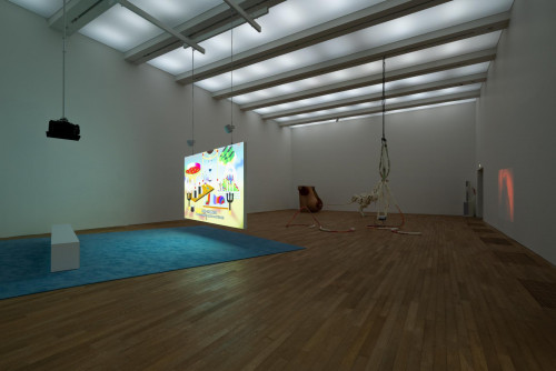 Exhibition view: Wong Ping and Raphaela Vogel, at Performing Society: The Violence of Gender.