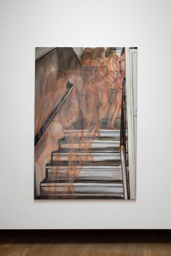"""Jana Euler, """"Nude Climbing Up the Stairs"""" (2014)."""