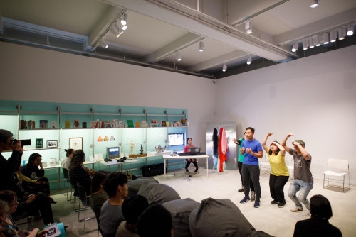 Exhibition view: Playback Theatre, at Contagious Cities: Far Away, Too Close.